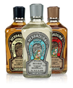 Three bottles of Herradura tequila