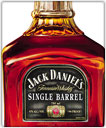 A bottle of Jack Daniel's Single Barrel whisky