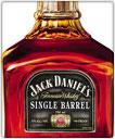 A bottle of Jack Daniel's Single Barrel whisky