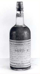 Early bottle of Old Forester Whiskey