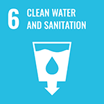 Clean water and sanitation and icon
